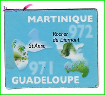 Magnet Le Gaulois Les Départements - 971 Guadeloupe / 972 Martinique St Anne Rocher Du Diamant - Magnets