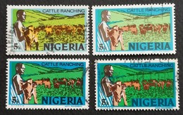 Nigeria  1974  Cattle Ranching USED Different Shades - Nigeria (1961-...)