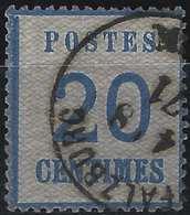 FRANCE Alsace Lorraine Occupation N°6, 20 Bleu Oblitéré Cachet Allemand De Pfalzburg En Noir TB - Alsace-Lorraine
