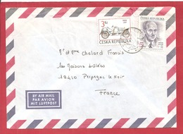 Y&T N°LETTRE     Vers FRANCE   2 SCANS - Tchéquie