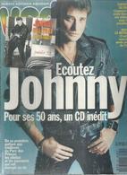 """VSD N° 824 - JOHNNY HALLYDAY  """" ECOUTEZ JOHNNY POUR SES 50 ANS, UN CD INEDIT- 1993 ( Sous Blister ) - Musique"""