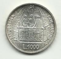 1977 - San Marino 1.000 Lire - Brunelleschi - San Marino