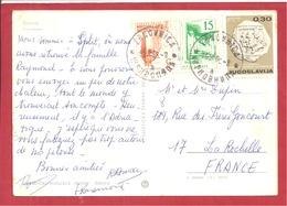 Y&T N°2157 BUDAPEST Vers FRANCE 1971   2 SCANS - 1945-1992 République Fédérative Populaire De Yougoslavie