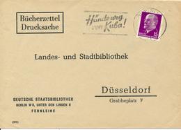 BERLIN - 1962 , Deutsche Staatsbibliothek - Bücherzettel Nach Düsseldorf - Hände Weg Von Kuba ! - [6] Repubblica Democratica