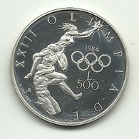 1984 - San Marino 500 Lire - Olimpiadi - San Marino