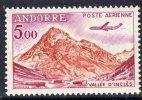 Andorre PA N° 7  XX Avion Caravelle : 5 F.  Sans Charnière TB - Poste Aérienne