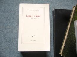 F. Mitterand  Lettres A Anne - Books, Magazines, Comics