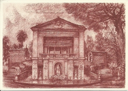 """Città Del Vaticano, """"Fontana Casina Di Pio IV """" Disegno L. Bianchi Barriviera X Anno Europeo Patrimonio Architettonico - Vaticano"""