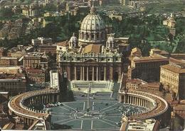 Città Del Vaticano, Veduta Aerea Piazza E Basilica Di San Pietro, Aerial View St. Peter's Square And The Basilica - Vaticano