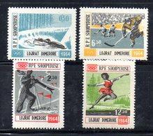 611A/1500A - ALBANIA 1963 ,    Yvert N. 667/670  ***  MNH . INNSBRUCK - Albania