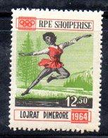 611B/1500A - ALBANIA 1963 ,    Pattinaggio Artistico Yvert N. 670  ***  MNH . INNSBRUCK - Pattinaggio Artistico