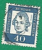 * 1961 N° 186 LESSING   OBLITÉRÉ - [5] Berlin