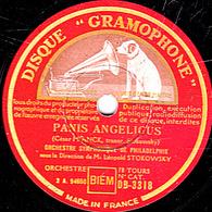 78 Trs - 30 Cm - état TB - PARIS ANGELICUS - VALSE TRISTE - ORCHESTRE SYMPHONIQUE DE PHILADELPHIE - 78 T - Disques Pour Gramophone