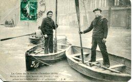 CPA -  PARIS - CRUES DE LA SEINE - MARINS DE DUNKERQUE PRETENT LEURS CONCOURS - Inondations De 1910