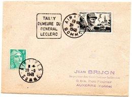 SOMME - Dépt N° 80 = AIRAINES 1948 = FLAMME CONCORDANTE N° 815 = DAGUIN ' DEMEURE Du GENERAL LECLERC ' - Marcofilia (sobres)
