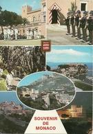Principaute De Monaco, Montecarlo, Vues Et La Reléve De La Garde, Views, Vedute - Panorami E Cambio Della Guardia - Monaco