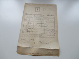 Österreich / Bosnien 1917 Dokument Viehpaß Mit Fiskalmarke / Steuermarke Gestempelt L1 Tuzla Bosnien Hercegovina - Briefe U. Dokumente