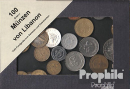 Libanon Münzen-100 Gramm Münzkiloware - Kiloware - Münzen