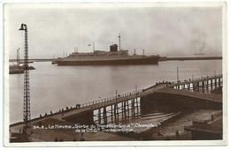 Bateau Transport -  Le Havre - Sortie De Transatlantique Champlain - Piroscafi