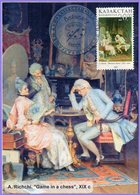 """Kazakhstan 2003. Maxicard. Painting.  A. Richchi. """"Game In A Chess"""". Maximum Cards. - Arts"""
