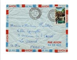 CAMBODGE LETTRE AVION POUR LA FRANCE 1965 - Cambodge
