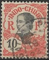 INDO CHINA 1907 Annamite - 10c - Black And Red FU - Indochine (1889-1945)