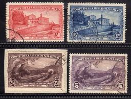 SAN MARINO 1928 S. FRANCESCO ST. FRANCIS SERIE COMPLETA USATA COMPLETE SET USED OBLITERE' - Saint-Marin