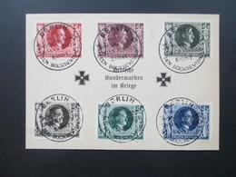 3. Reich 1943 Hitler Nr. 844 - 849 Deutsche Sondermarken Im Kriege. SST Berlin Der Führer Bannt Den Bolschewismus - Briefe U. Dokumente