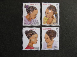 A). Mayotte: Série N°241 Au N° 244, Neufs XX . - Mayotte (1892-2011)