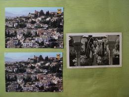 ESPAGNE. LOT DE 2 CPSM / CPM GRENADE. ANNEES 50 / 2001 PATIO DE LA ACEQUIA / EL ALBAICIN. CLICHES GENERALIFE /  CORRESP - Granada