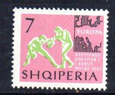 649 490 - ALBANIA 1963 , Yvert N. 644 (Michel 771)   ***  MNH  Boxe - Albania
