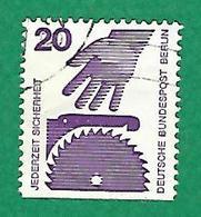 1972 / 1973 N° 394b NON DETENLES HORIZONTALS  PREVENTION DES ACCIDENTS   OBLITÉRÉ - [5] Berlin