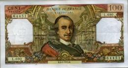Billet De Cent Francs CORNEILLE. - 1962-1997 ''Francs''