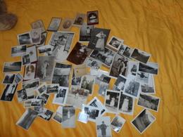 LOT DE 57 PHOTOS ANCIENNES TOUTES TAILLES DATE A DETERMINER . PORTRAIT, MARIAGE,VACANCE, LIEU...CERTAINES ANOTATIONS DOS - Autres