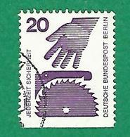 * 1972 / 1973 N° 394b NON DENTELÉE HORIZONTALS  PREVENTION DES ACCIDENTS   OBLITÉRÉ - [5] Berlin