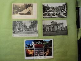 ESPAGNE. LOT DE 5 CPA / CPSM / CPM MADRID. ANNEES 1900 / 90 SALON DU TRONE AU PALAIS ROYAL / VENUS DE TIZIANO / PORTE D - Madrid