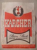 étiquette Ancienne Brasserie KARCHER  Bière Bock - Bière