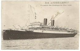 Bateau Transport -  Le Paquebot Des Messageries Maritimes - SS André Lebon - Paquebots