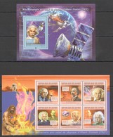 Y677 2011 GUINEE GUINEA SCIENCE ANNIVERSARY NOBEL PRIZE ALBERT EINSTEIN KB+BL MNH - Albert Einstein