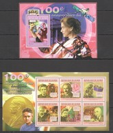 Y678 2011 GUINEE GUINEA SCIENCE ANNIVERSARY NOBEL PRIZE MARIE CURIE KB+BL MNH - Prix Nobel