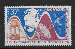 1976  Polynésie Française N° 110  NF**  MNH. .1éré Liaison Téléphonique. - Polynésie Française