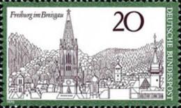 Germany  MNH** - Germany - The Town Freiburg Im Breisgau  -1970 - [7] République Fédérale