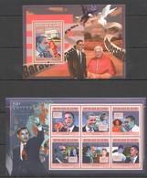 Y679 2011 GUINEE GUINEA FAMOUS PEOPLE AMERICAN PRESIDENTS BARACK OBAMA KB+BL MNH - Célébrités