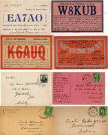 4 Cartes Illustrées - USA (W8KUB)  Missori (W9MND) Hawaii (K6AUQ) Sta Maria (EA7AO)   (110686) - Radio Amateur