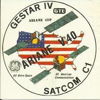 Autocollant Lancement ARIANE V40 Du 20 Novembre 1990 - CLUB PHILATELIQUE DE KOUROU - ESPACE - Stickers