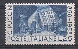 ITALIA 1958  GIACOMO PUCCINI SASS. 833 MNH XF - 1946-60: Nuovi