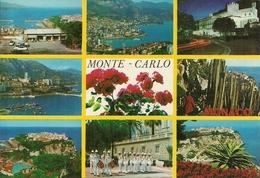 Principaute De Monaco, Montecarlo, Vues Et La Garde Du Prince, Vedute E Scorci Panoramici, Ansicht - Multi-vues, Vues Panoramiques