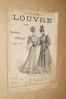 Ancien Catalogue De Mode,Grand Magasin Du Louvre,Paris 1905-1906,complet 64 Pages,28 Cm. Sur 19 Cm. - Advertising