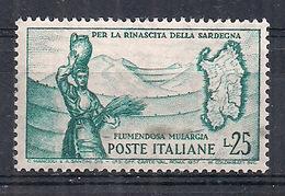 ITALIA 1958  FLUMENDOSA SASS. 826 MNH XF - 1946-60: Nuovi