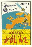 Autocollant Lancement ARIANE V42 Du 2 Mars 1991 - CLUB PHILATELIQUE DE KOUROU - ESPACE - Stickers
